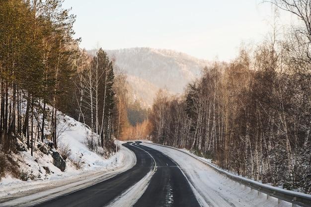 Winter mountain serpentine