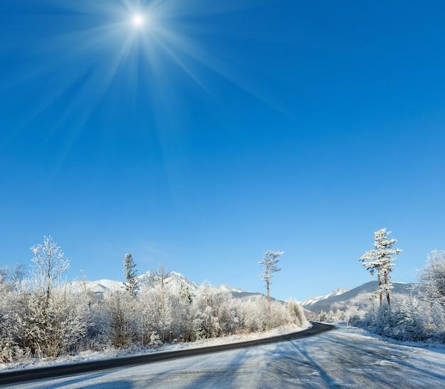 Winter mountain sunshiny landscape. western tatras (poland).