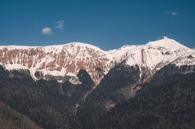 Winter mountains of krasnaya polyana