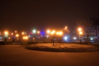 Winter night  glow