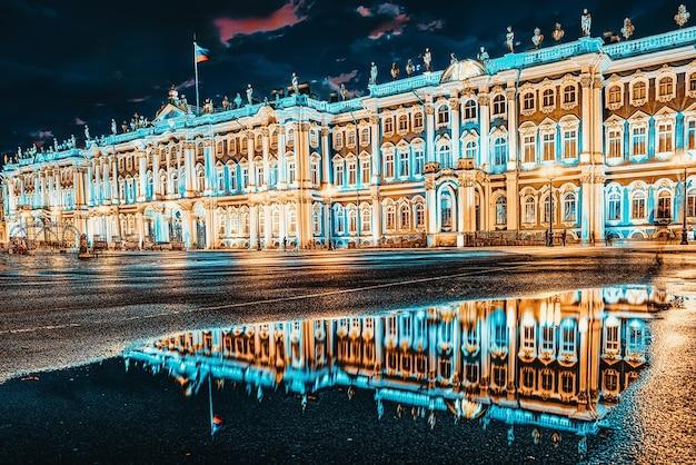Зимний дворец и эрмитаж. санкт-петербург. россия.