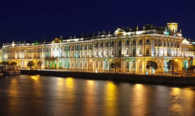 Winter palace  in night