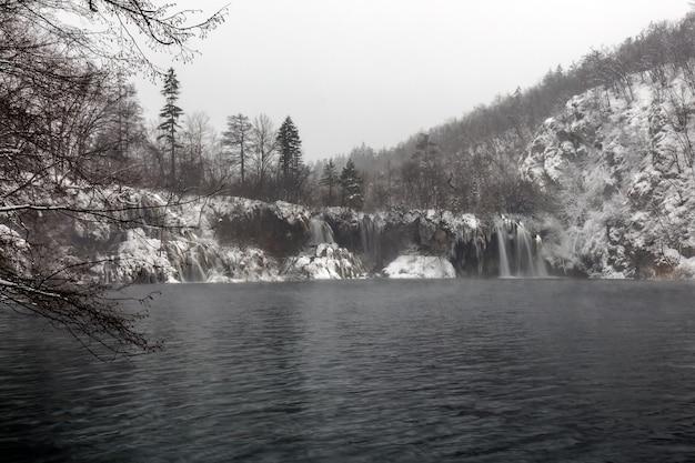 겨울 플리트 비체 호수