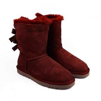 Winter red shoes