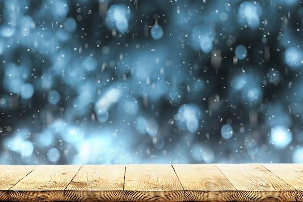 木の上の冬の雪