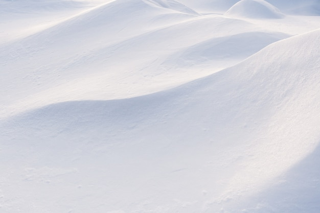 Winter snowdrift close-up