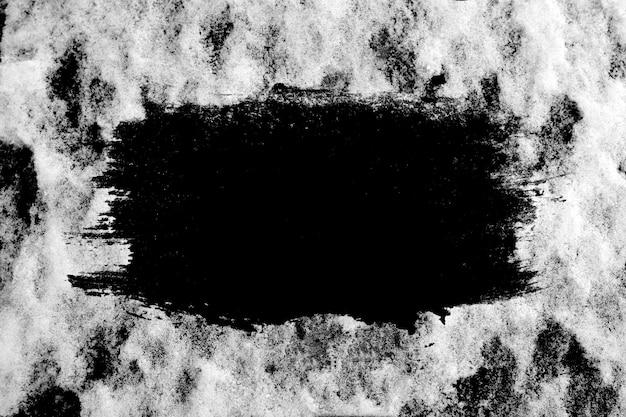 真ん中に黒いバナーと冬のテクスチャ。高品質の写真