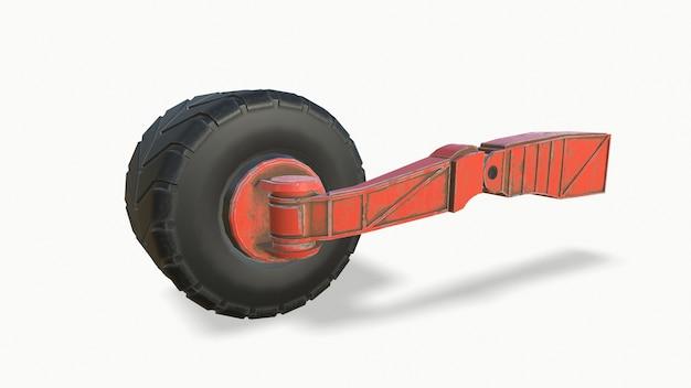 흰색 배경에 겨울 타이어 자동차 휠 클리핑 경로 포함 3d 그림 3d 렌더링