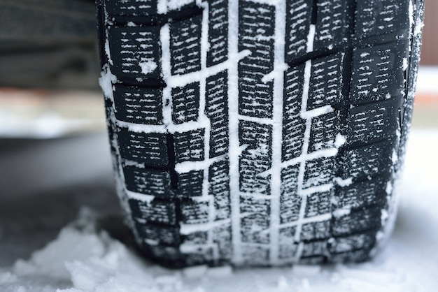 Winter tyres in extreme cold temperature.