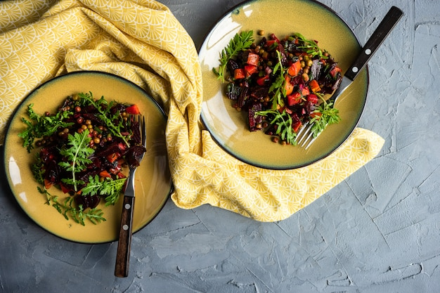 Winter vegetable salad