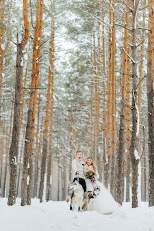 Winter wedding photosession in nature