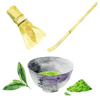 Венчик и миска для зеленого чая