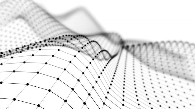 ワイヤーフレーム-線と頂点のみが3dレンダリングで表現される骨格3次元モデル