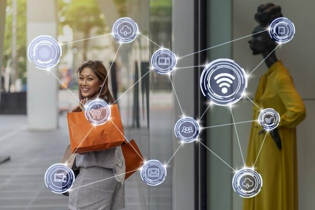 Беспроводное коммуникационное соединение умного города интернет вещей technology