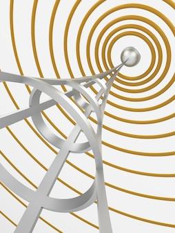 Wireless. digitally generated image. 3d rendering