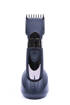 Wireless hair trimmer and beard isolated. hair dryer