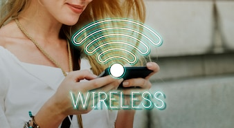 Wireless Internet Wifi Icon Concept