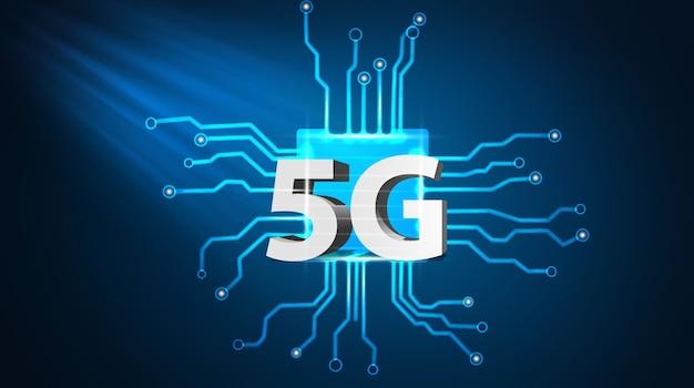 Эволюция скорости беспроводной сети концепция 5g 3d illustracion