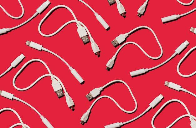 전선 충전기 및 어댑터 통신 개념