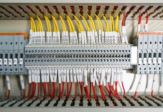 Premium Photo Wiring Plc Control Panel With Wires Industrial Factory