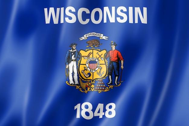 米国ウィスコンシン州旗