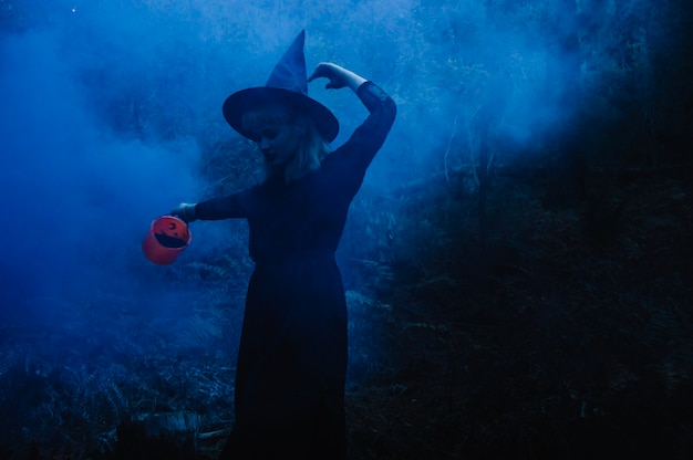 Witch in fog