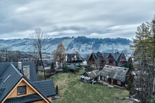 With views of the tatras villas in zakopane morning