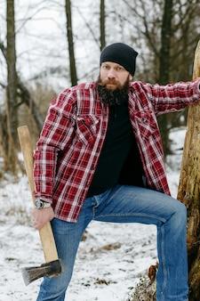 雪道を歩いてwithでひげを生やしたマニアック