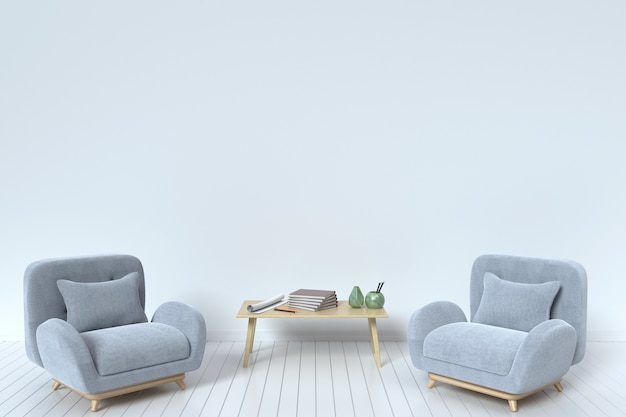 Within the have fabric sofa with pillows and book on a white background wall