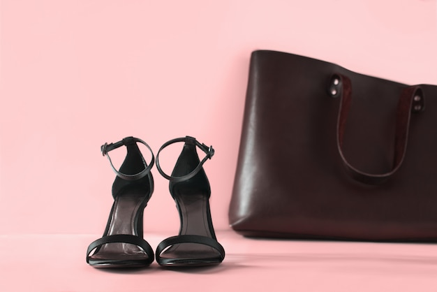 Woman accessory black open shoes one thing