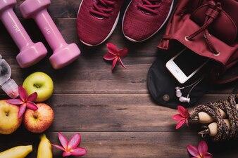 女性のアクティブな健康的なライフスタイルの概念