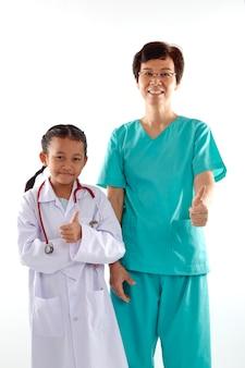 女性、女の子、医者、衣装、チャット