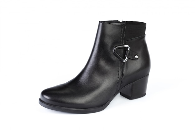 Woman ankle boots isolated