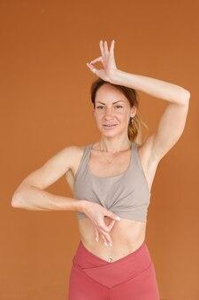 Woman in asana yoga