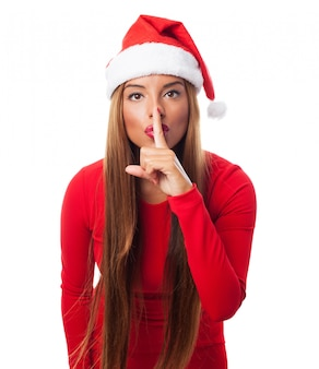 침묵을 요구하는 여자
