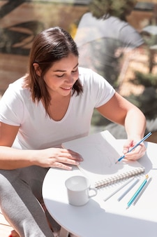 Женщина в домашней живописи