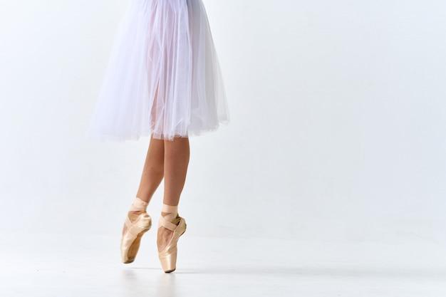 Woman ballerina dancing ballet
