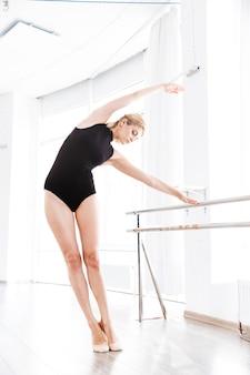 Woman in ballet school