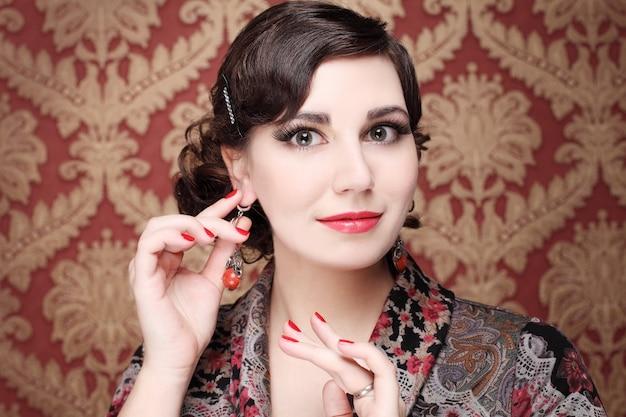 Woman - beautiful face, fashion portrait