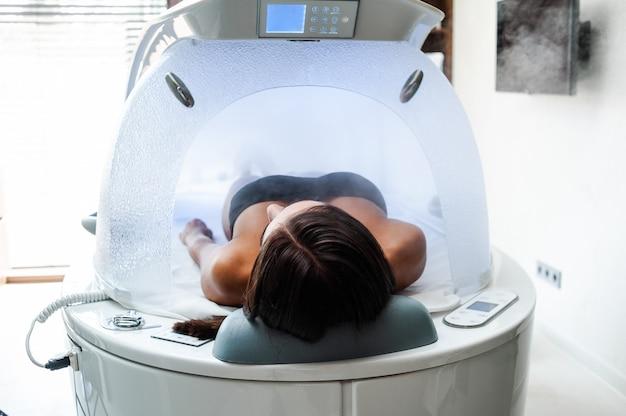 Woman beauty procedure in relax center