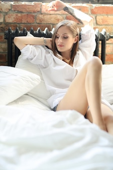 Woman in the bed