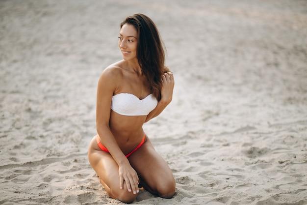 Woman in bikini on a vacation