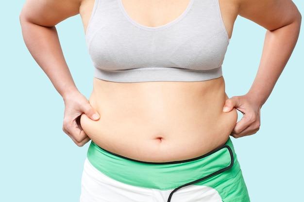 Woman body fat belly
