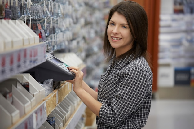 Woman buy at hardware store