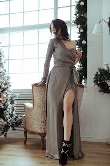 크리스마스 트리여 여자