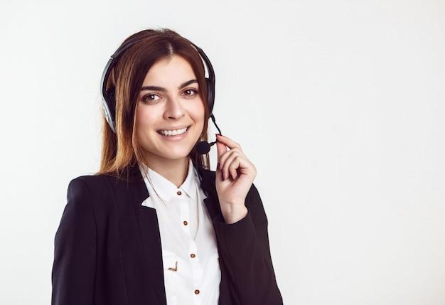 Woman callcenter operator