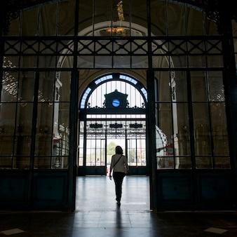 Woman at centro cultural estacion mapocho, santiago, santiago metropolitan region, chile