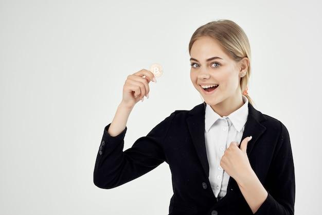 여자 상거래 인터넷 금융 빛 배경