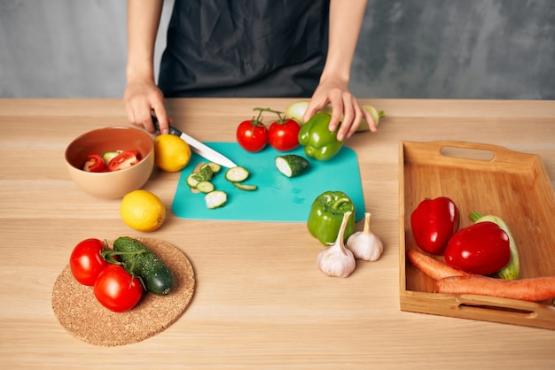 Woman cooking healthy eating isolated background