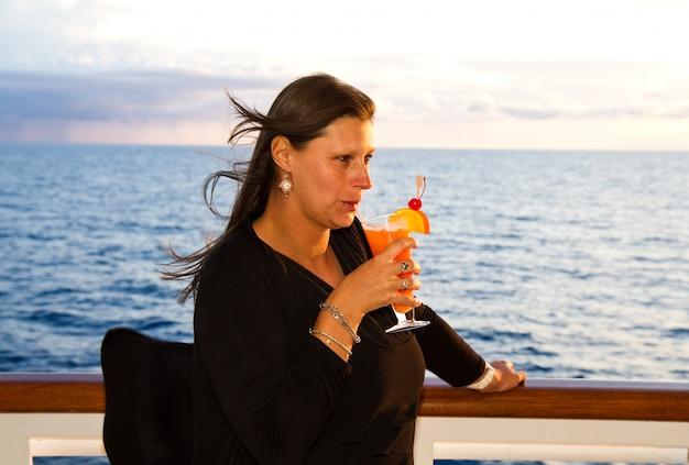 Woman in cruise